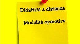 Indicazioni per alunni e genitori sulle modalità utilizzate dalla scuola per svolgere le attività didattiche