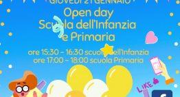 Open day scuola infanzia e primaria 21 gennaio diretta Facebook